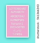 pink letterboard with white... | Shutterstock .eps vector #561366343