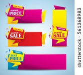 promotional sale banner set in... | Shutterstock .eps vector #561368983