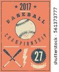 baseball typographical vintage... | Shutterstock .eps vector #561373777