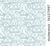 seamless vector pattern with... | Shutterstock .eps vector #561373987
