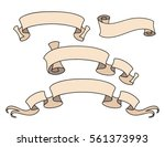 vector ribbon set. banner... | Shutterstock .eps vector #561373993