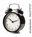 classical black alarm clock... | Shutterstock . vector #561375727