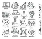 business management icons in... | Shutterstock .eps vector #561377017