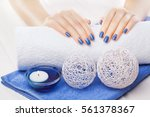 Beautiful Blue Manicure With...