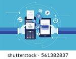 flat vector for business mobile ...   Shutterstock .eps vector #561382837