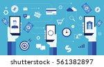 flat vector for mobile... | Shutterstock .eps vector #561382897