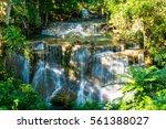 beautiful waterfall in deep... | Shutterstock . vector #561388027