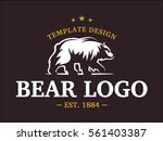 bear logo   vector illustration ...   Shutterstock .eps vector #561403387