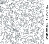 doodle pattern with brushes ... | Shutterstock .eps vector #561404467