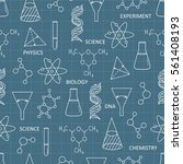 seamless pattern with science...   Shutterstock .eps vector #561408193
