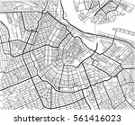 black and white vector city map ... | Shutterstock .eps vector #561416023