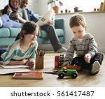 family spend time happiness... | Shutterstock . vector #561417487