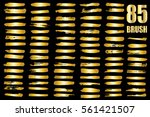 gold vector template set of... | Shutterstock .eps vector #561421507