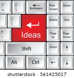 computer keyboard with ideas  ... | Shutterstock .eps vector #561425017