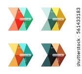 vector arrow infographics... | Shutterstock .eps vector #561433183
