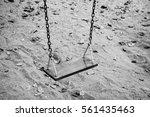 Empty Swing Set In The Park  ...
