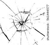 vector broken glass  on a white ... | Shutterstock .eps vector #561444577