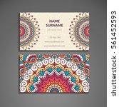 business cards. vintage...   Shutterstock .eps vector #561452593
