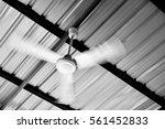 Closeup Vintage Ceiling Fan ...