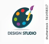 design studio icons with... | Shutterstock .eps vector #561458317