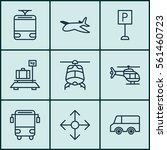 set of 9 vehicle icons.... | Shutterstock .eps vector #561460723