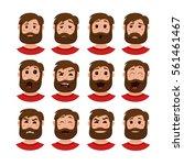 beard men facial expression... | Shutterstock .eps vector #561461467