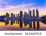 view on skyscrapers in modern... | Shutterstock . vector #561465313