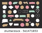 set of hand drawn shapes  ... | Shutterstock .eps vector #561471853