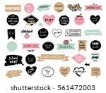 hand drawn vector   handmade ... | Shutterstock .eps vector #561472003