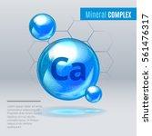 mineral ca calcium blue shining ... | Shutterstock .eps vector #561476317