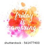 watercolor imitation splash... | Shutterstock .eps vector #561477403