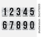 set of numbers on a mechanical... | Shutterstock .eps vector #561478303
