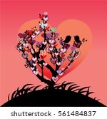 bright valentine s day... | Shutterstock .eps vector #561484837