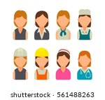 set icon character cook ... | Shutterstock .eps vector #561488263