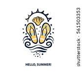 freehand drawn logo for travel... | Shutterstock .eps vector #561503353
