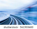 motion blurred moving train ... | Shutterstock . vector #561503683