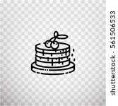 pancakes icon pixel perfect on... | Shutterstock .eps vector #561506533