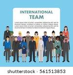 group of business men and women ... | Shutterstock .eps vector #561513853