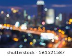 blurred light aerial view  city ... | Shutterstock . vector #561521587