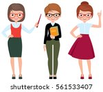 set of vector cartoon teacher... | Shutterstock .eps vector #561533407