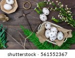 Top View Easter Background...