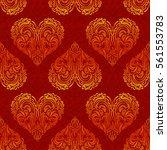 seamless background  valentine... | Shutterstock .eps vector #561553783