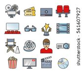 movies element set. cinema...