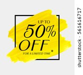 sale up to 50  off sign over... | Shutterstock .eps vector #561616717