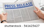 man reading newspaper with the...   Shutterstock . vector #561625627