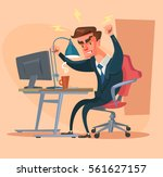 angry office man character.... | Shutterstock .eps vector #561627157