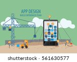 mobile application development... | Shutterstock .eps vector #561630577