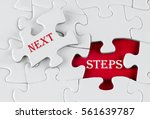 white puzzle with void in the... | Shutterstock . vector #561639787
