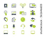 media and communication icons | Shutterstock .eps vector #561646603