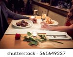 romantic dinner for couple in... | Shutterstock . vector #561649237